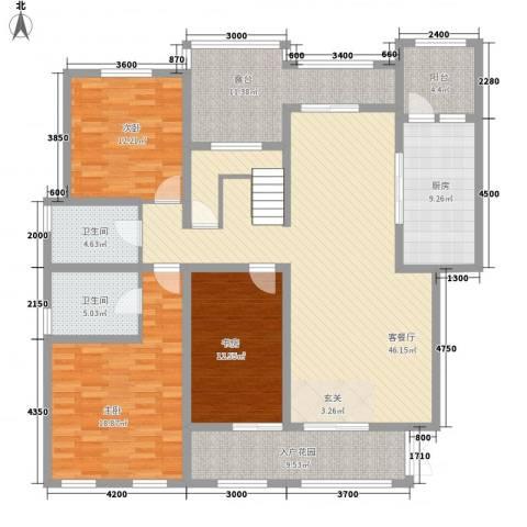 龙湖香醍国际社区配套公寓3室1厅2卫1厨193.00㎡户型图