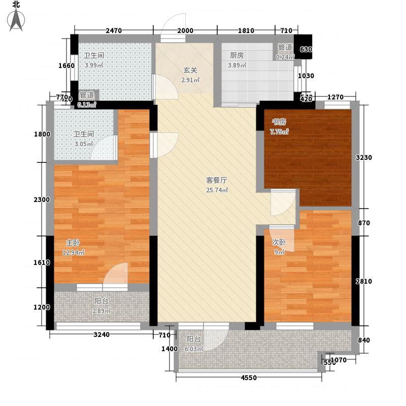 招商公园187217.14㎡A4地块1-8号楼C户型3室2厅2卫1厨