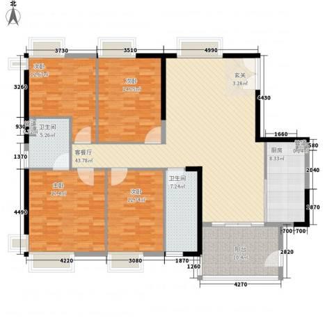 市桥兴业花园4室1厅2卫1厨147.00㎡户型图