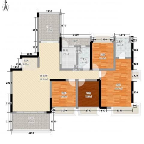 上东国际二期4室1厅2卫1厨169.00㎡户型图