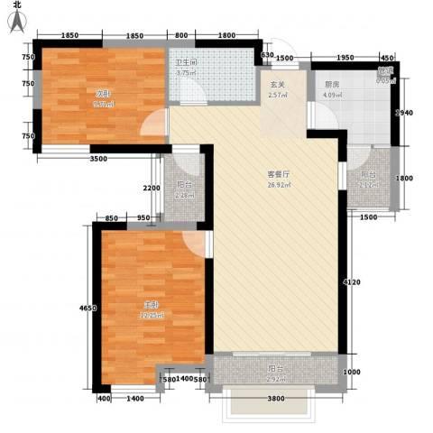 旺城温莎郡2室1厅1卫1厨100.00㎡户型图