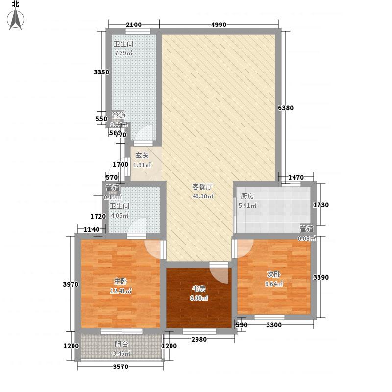 东兴寓城花园9-D(已售完)户型3室2厅2卫