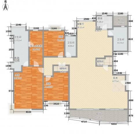 绿洲香岛3室1厅3卫1厨283.00㎡户型图
