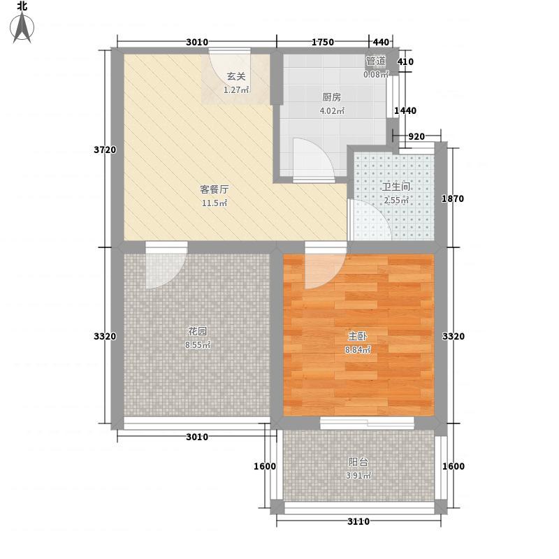 和昌都汇华府58.00㎡公寓A-2户型2室1厅1卫