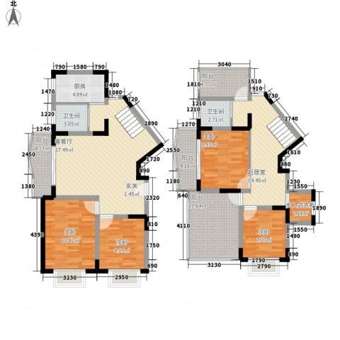 大华水韵华庭4室1厅2卫1厨182.00㎡户型图