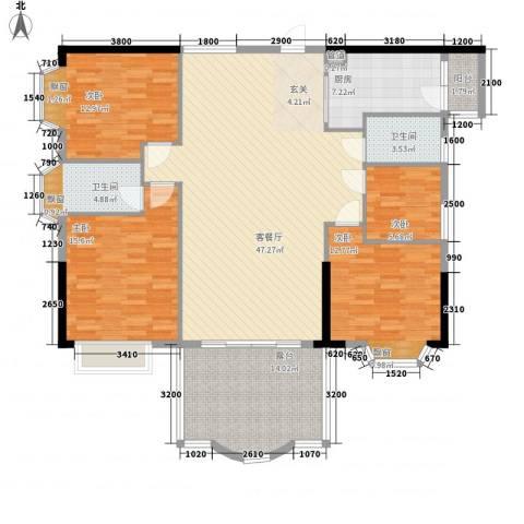 汇景中央4室1厅2卫1厨141.00㎡户型图