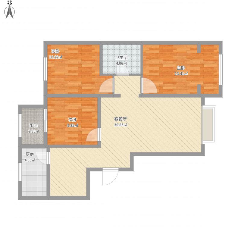 昌平-怡园-三居-主卧阳台