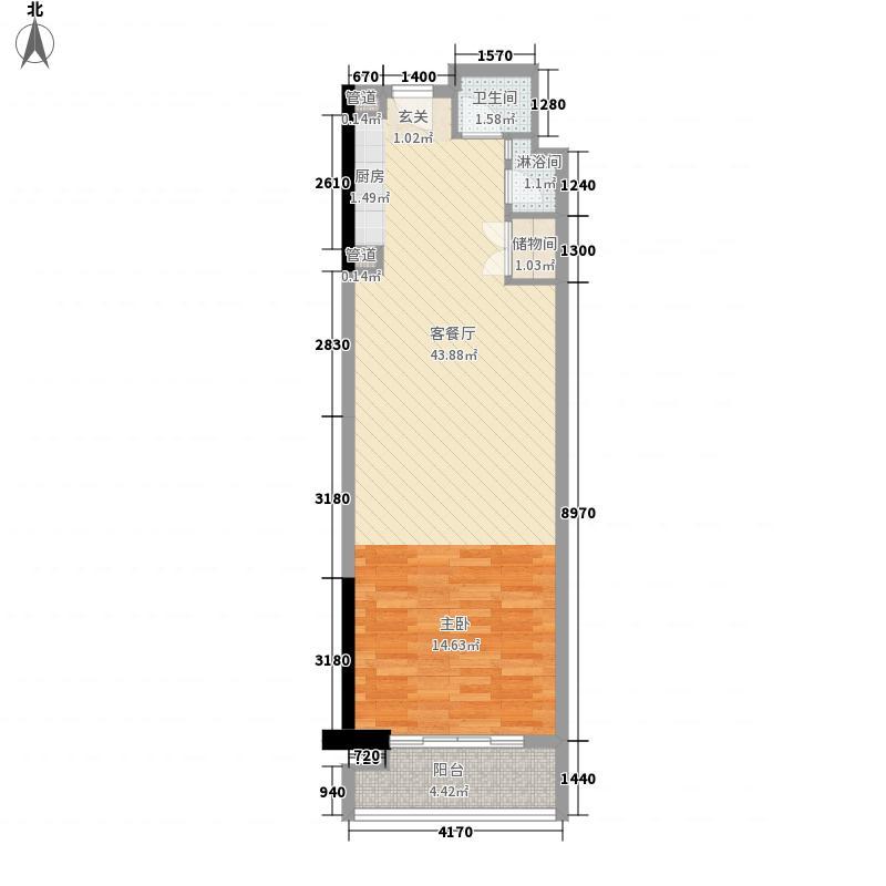 碧桂园十里银滩临海公寓01A户型