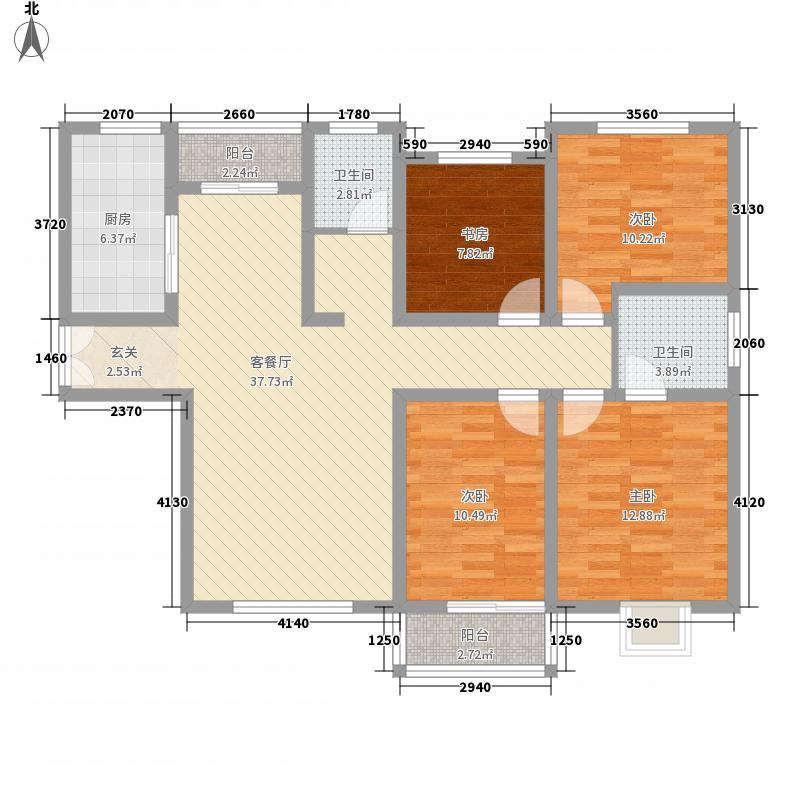 豫龙之春141.60㎡一期F-3户型4室2厅2卫1厨