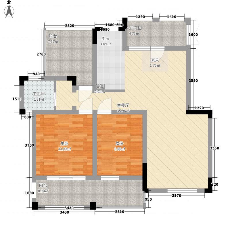东方维罗纳115.00㎡花园洋房41、45#40户型2室2厅1卫1厨
