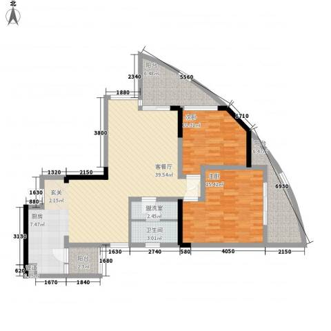 宗申动力城2室2厅1卫0厨125.00㎡户型图