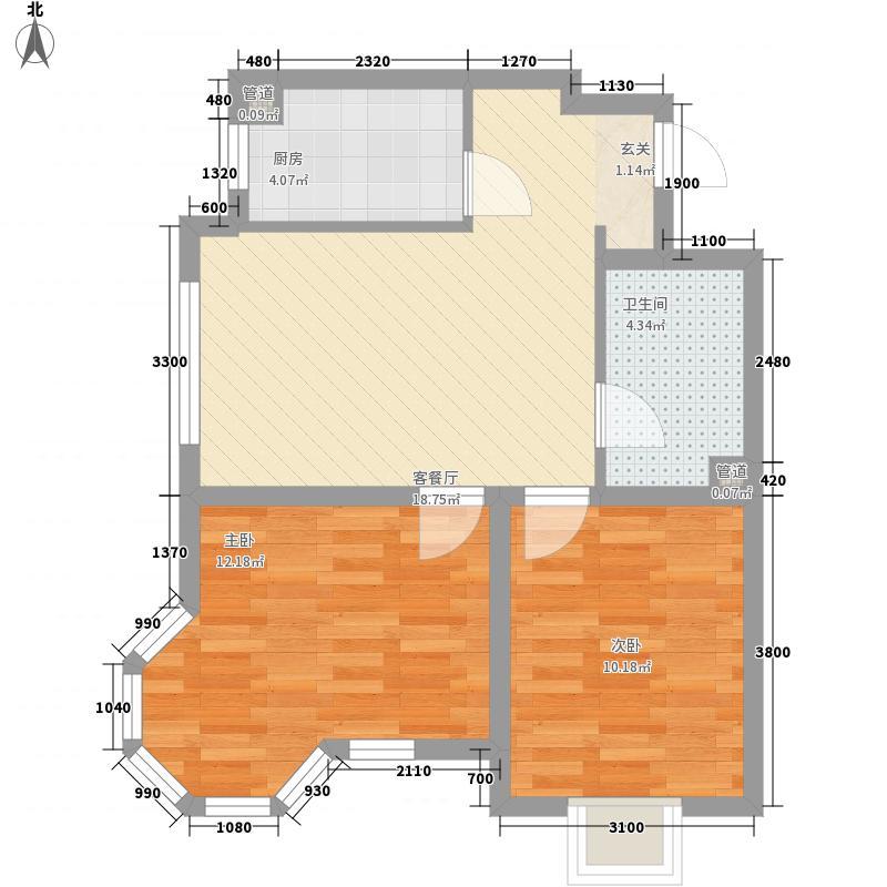 温莎庄园76.15㎡C3-2户型2室2厅1卫