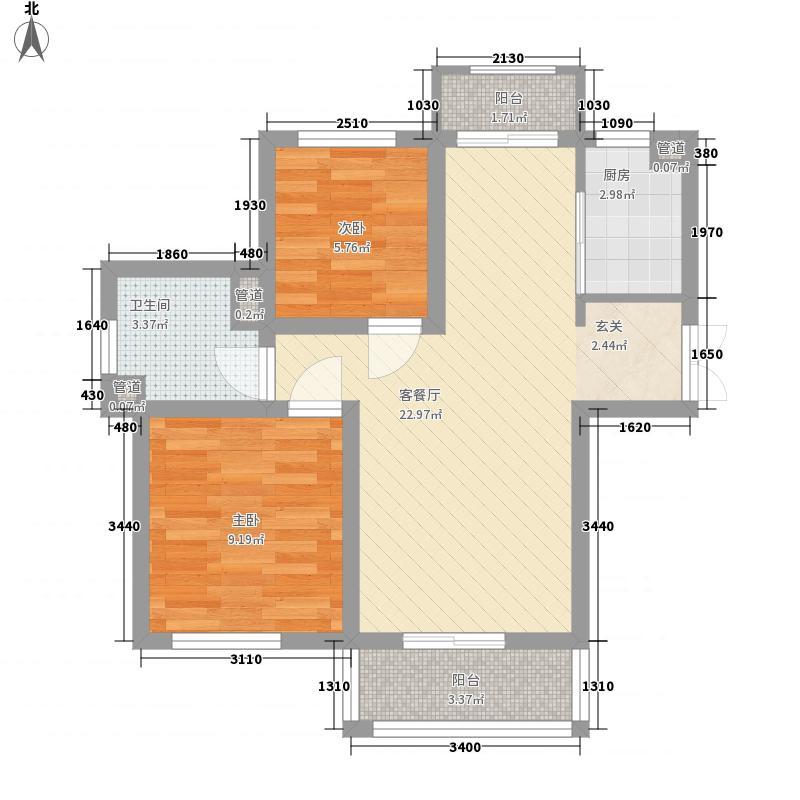 南庄74.00㎡小区户型2室