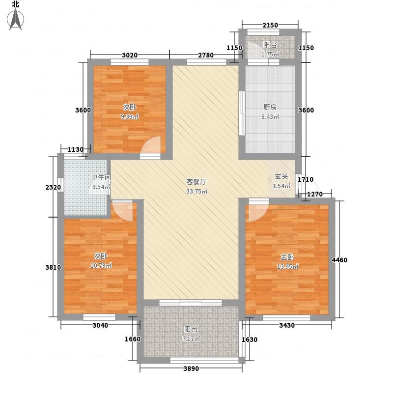 城阳星城18.00㎡C户型3室2厅1卫