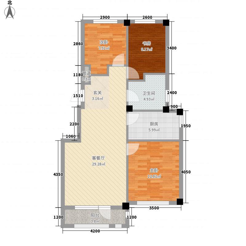 港湾隽景11.44㎡B2/B3号楼B2/B3户型3室2厅1卫1厨