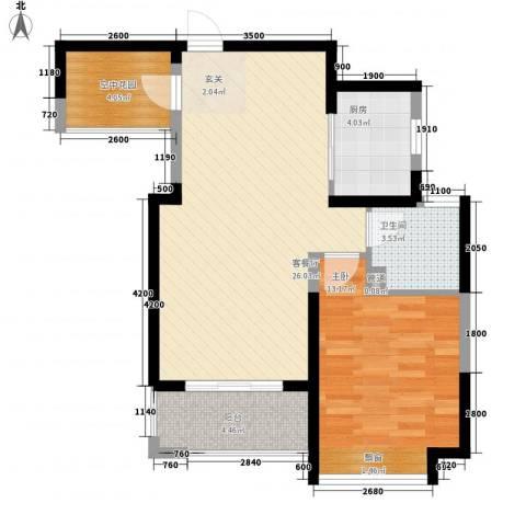 新华城1室1厅1卫1厨79.00㎡户型图