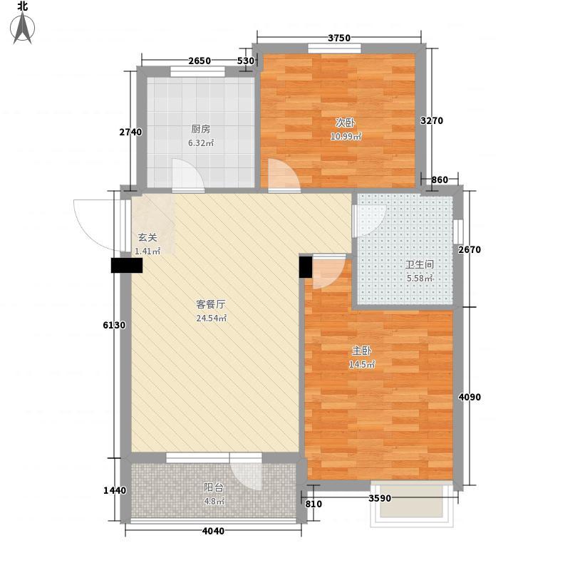 宏图新村78.00㎡户型2室