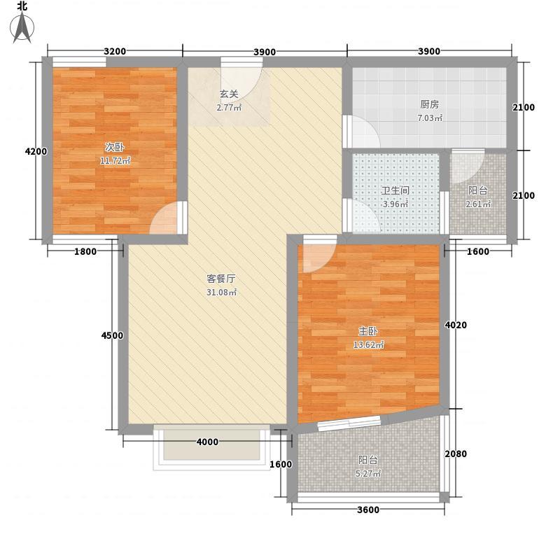 钢铁新村58.00㎡户型2室
