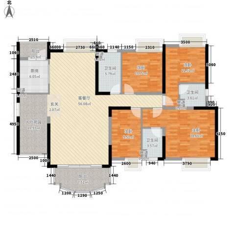 星城香洲花园4室1厅3卫1厨191.00㎡户型图