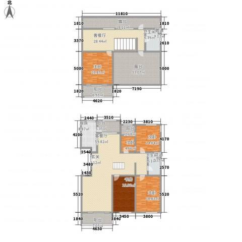 九合国际5室2厅2卫1厨257.50㎡户型图