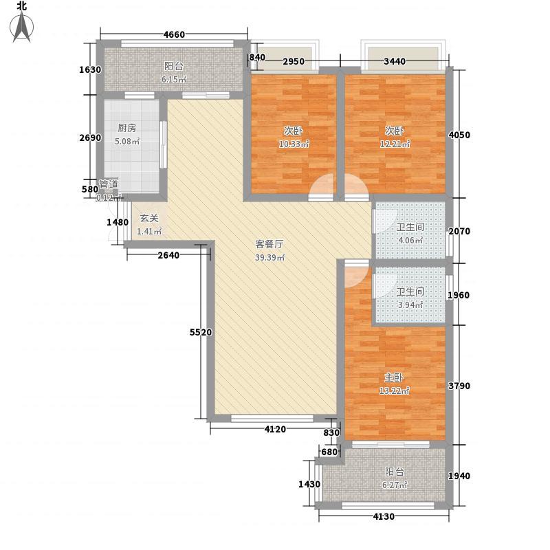 大观国际居住区145.00㎡9#楼3-31层10#楼3-30层东单元东户E3户型3室2厅2卫1厨