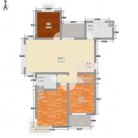 翠园世家3室1厅1卫1厨120.00㎡户型图