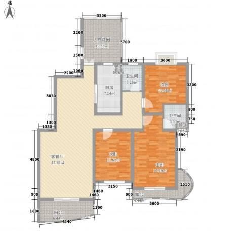 帝景花园3室1厅2卫1厨171.00㎡户型图