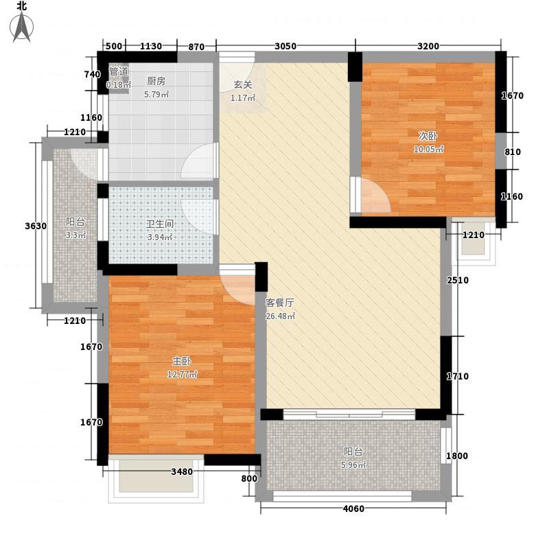桑达苑户型2室2厅1卫1厨