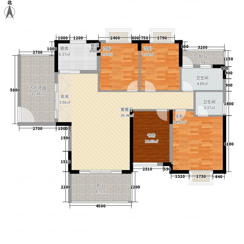 地一家园138.00㎡5号楼02单元户型3室2厅2卫1厨