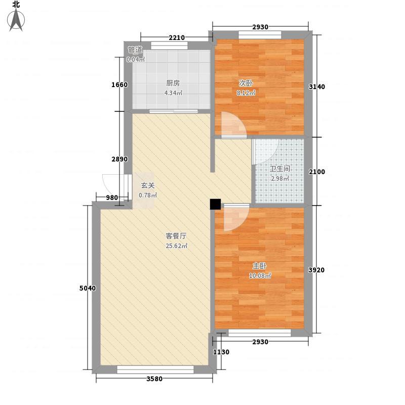 日报社宿舍72.00㎡户型3室