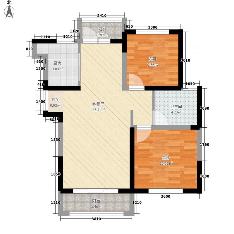 恋海公寓户型2室1厅1卫1厨