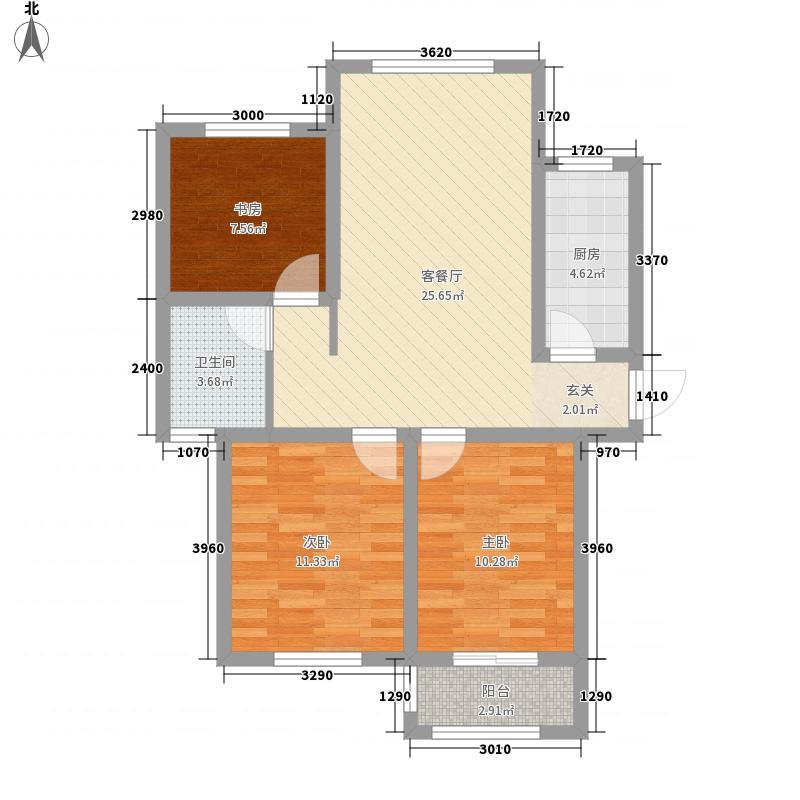 滨海公馆7.44㎡FLK座C户型