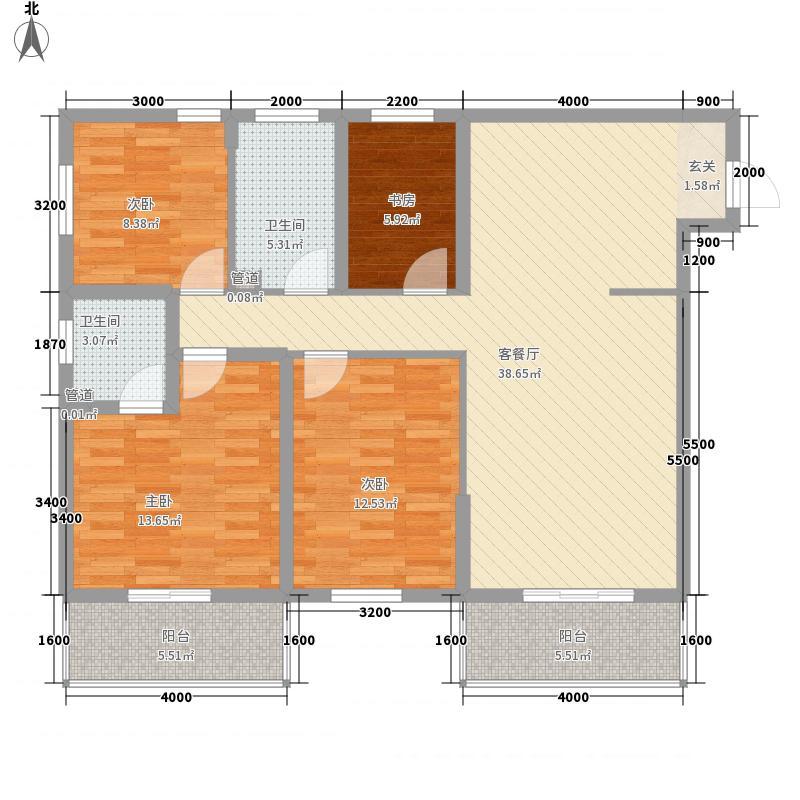 大成新苑123.00㎡户型3室2厅2卫1厨