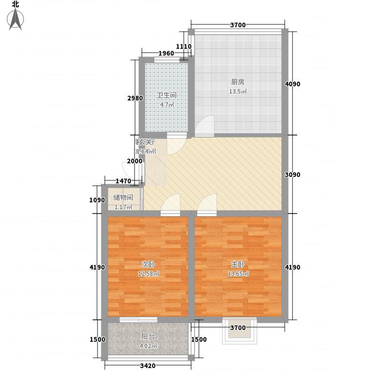 东升花园84.60㎡6#03户型2室2厅1卫