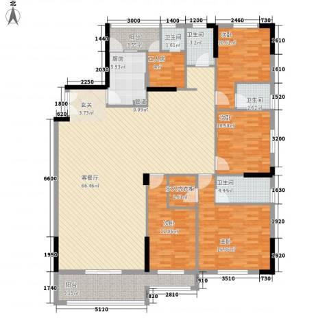 顺丰翠园4室1厅4卫1厨211.00㎡户型图