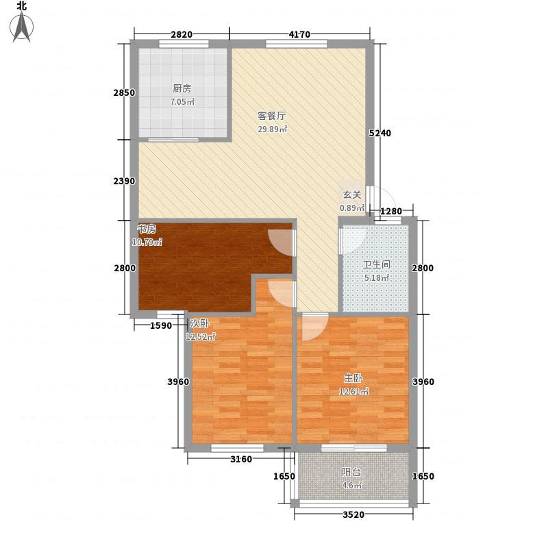 路通花园115.00㎡D户型3室2厅1卫1厨