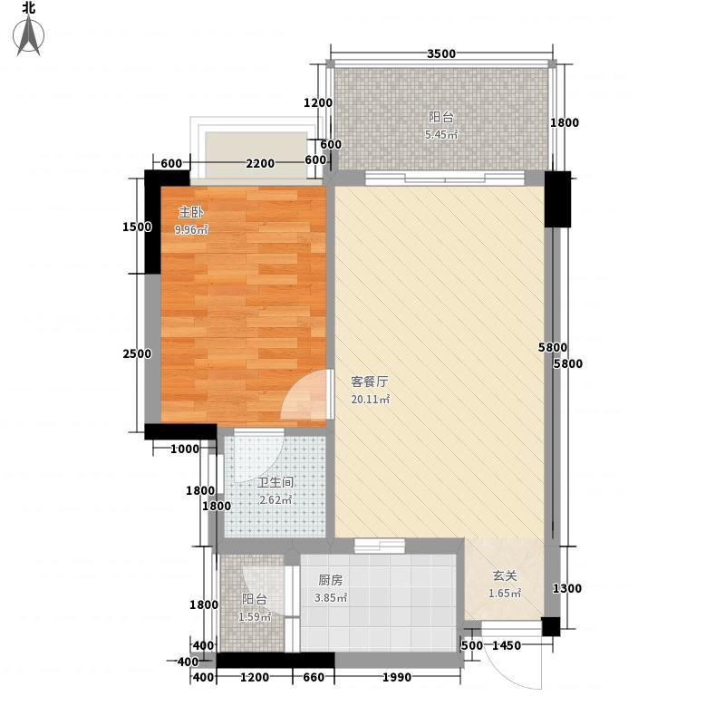 小桃园85.00㎡户型2室