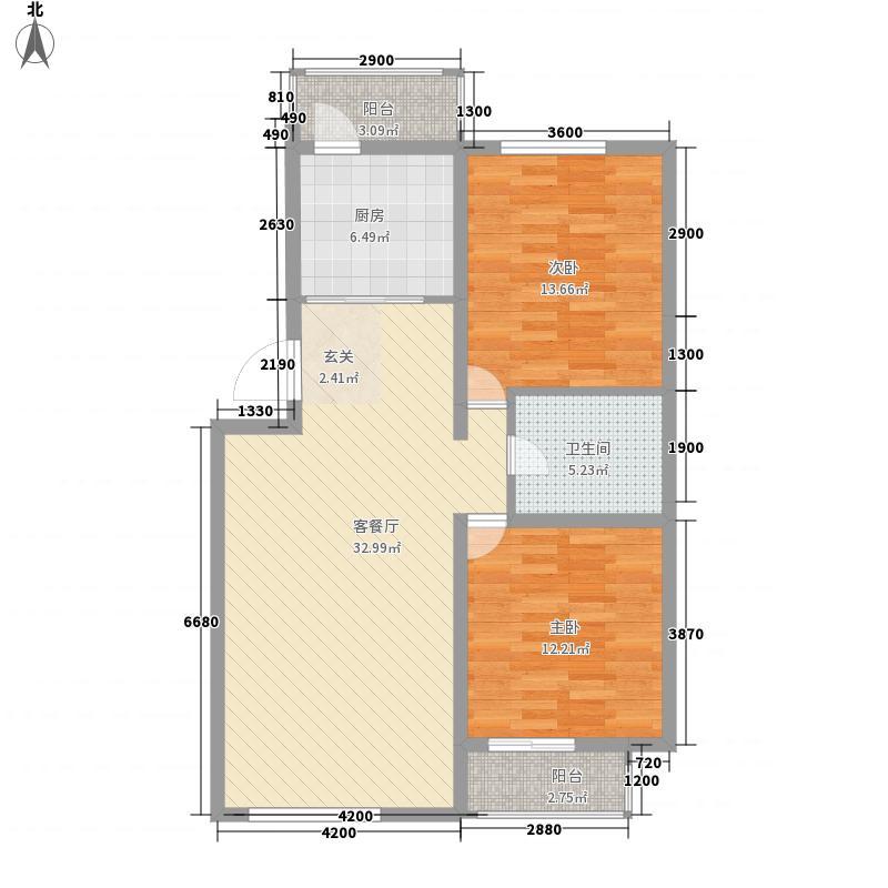四季嘉园14.71㎡127#E2户型2室2厅1卫1厨