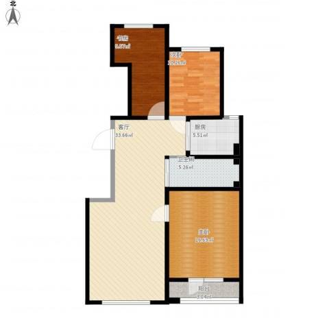 香江铂朗明珠3室1厅1卫1厨116.00㎡户型图