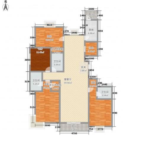 御庭华府5室1厅3卫1厨226.00㎡户型图