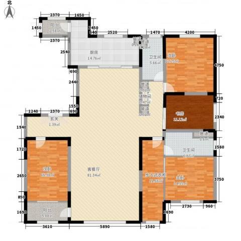 卓信EHO国际社区4室1厅2卫1厨266.00㎡户型图