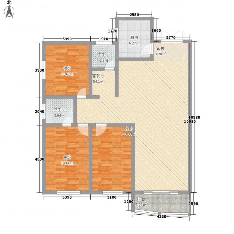 民馨苑158.28㎡A户型3室2厅2卫1厨