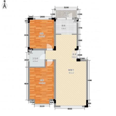怡众名城2室1厅1卫0厨100.00㎡户型图
