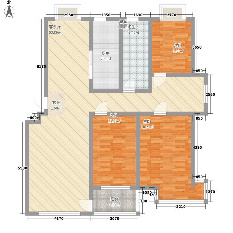 九龙山庄162.00㎡二期户型3室3厅1卫1厨