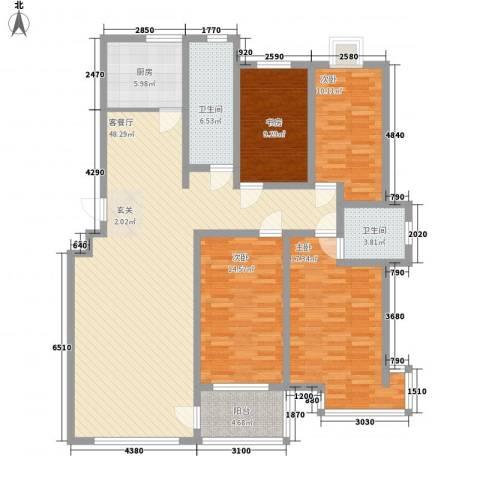 九龙山庄4室1厅2卫1厨173.00㎡户型图