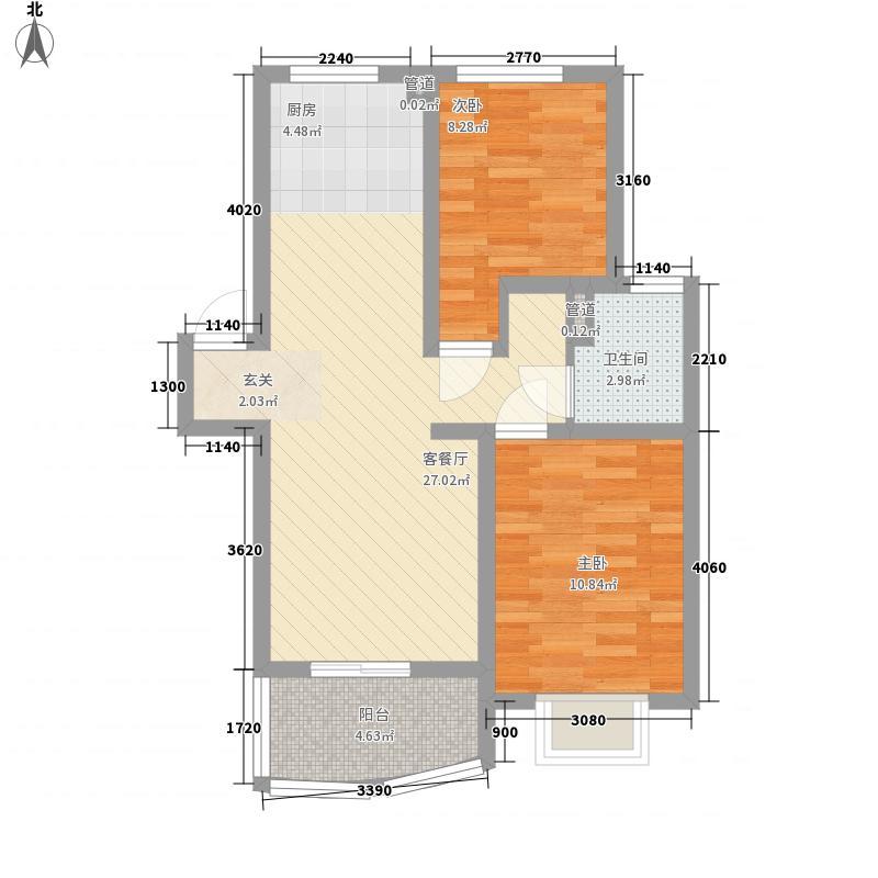 站塘78.00㎡小区户型2室