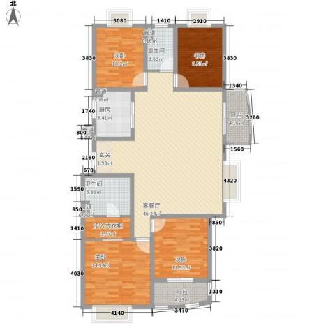 新湖青蓝国际4室1厅2卫1厨171.00㎡户型图