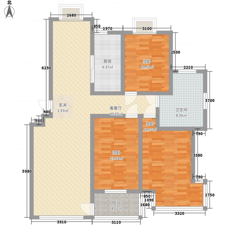 九龙山庄147.00㎡二期户型3室