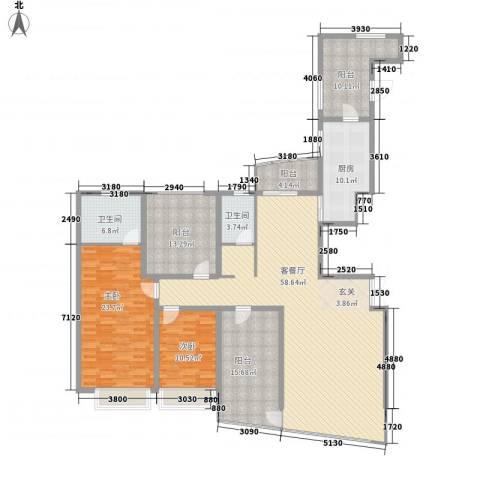 海景奥斯卡2室1厅2卫1厨176.00㎡户型图