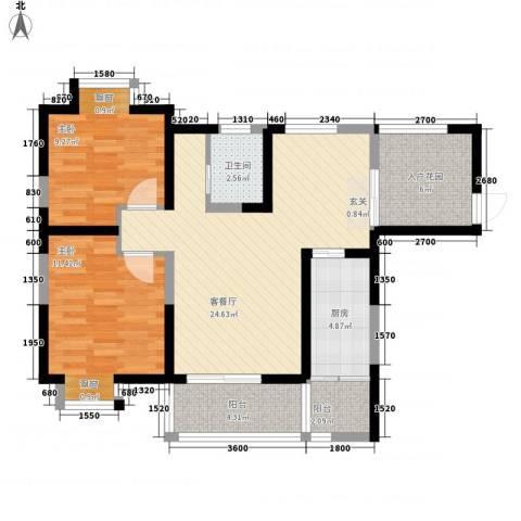 怡康花园2室1厅1卫1厨96.00㎡户型图